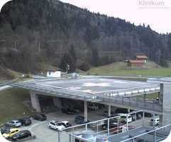 Garmisch Partenkirchen Hospital Helipad webcam