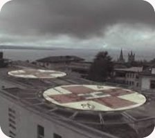 Lausanne Hospital helipad webcam