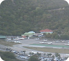 St Barts Gustav Airport webcam