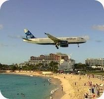 St Maarten Princess Juliana Airport St Maarten Maho Beach webcam