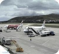 Split Airport webcam