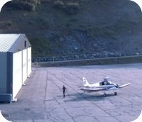 Courchevel Airport webcam