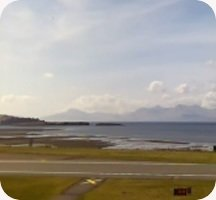 Oban Airport webcam