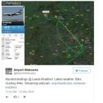 Leeds Bradford Airport aborted landings
