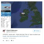 Virgin Atlantic flight pilot hit by laser