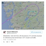 SAS SK1530 London-Stockholm diversion to Gothenburg after bomb scare