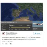 Air Algerie Boeing 737 7T-VJN diversion to Bordeaux