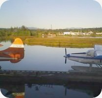 Campbill River Harbour Airport webcam
