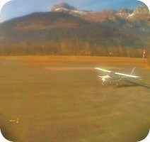 Aerodrome de Sallanches Mont Blanc Airport webcam